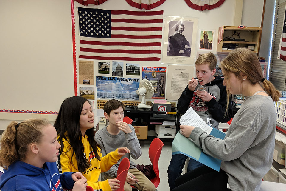 students studying for social studies