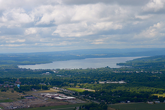 aerial view of canandaigua