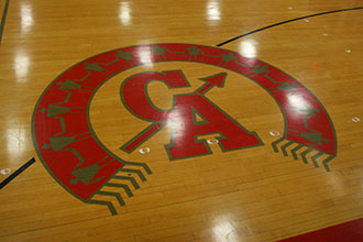 ccsd logo on gym floor